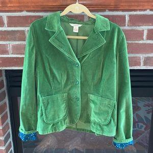 Sundance Green Velvet Blazer Size 8